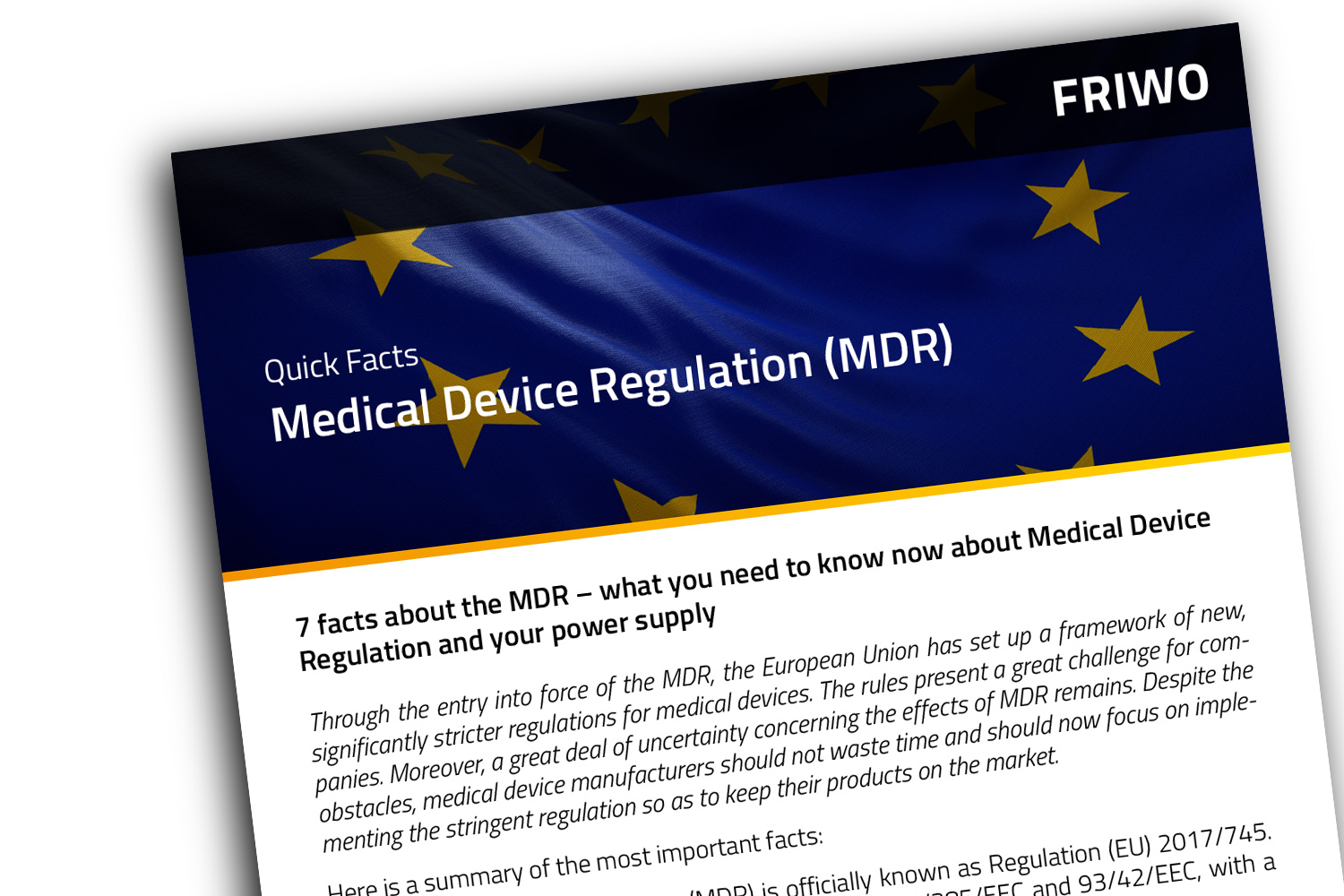 Quick Facts about the Medical Device Regulation